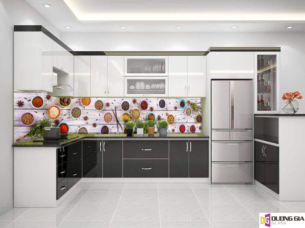 Kính ốp bếp 3D mẫu 33