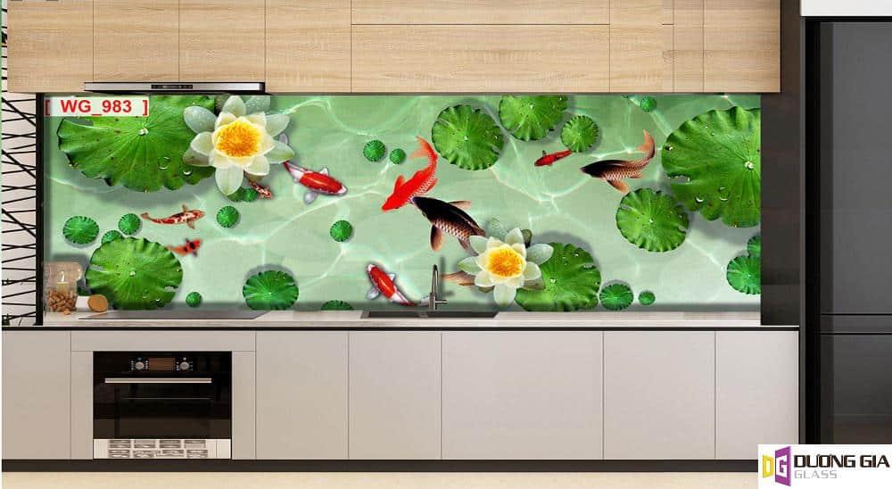 Kính ốp bếp 3D mẫu 71