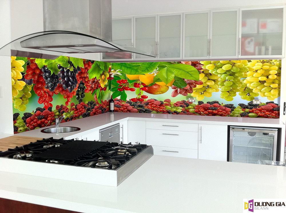 Kính ốp bếp hoa văn mẫu 14