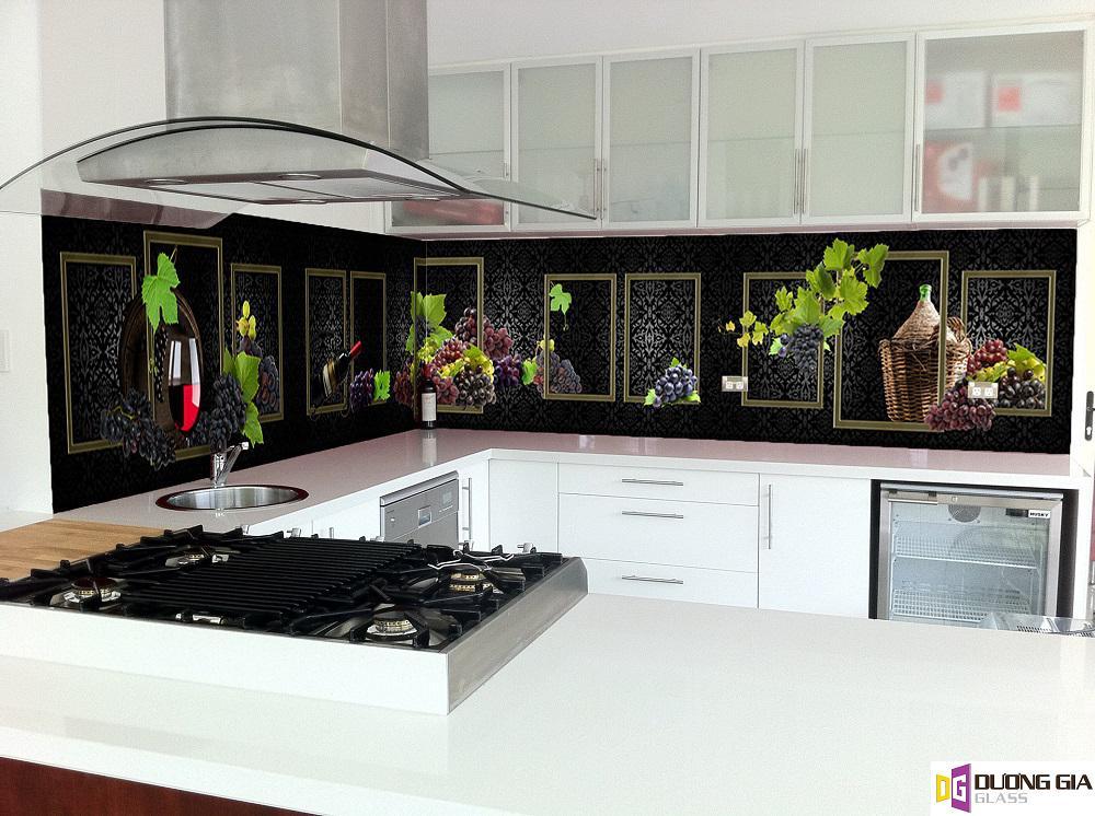 Kính ốp bếp hoa văn mẫu 36