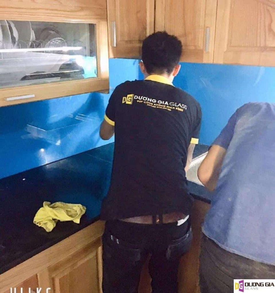 Lắp đặt Kính ốp bếp tại Quận Cầu Giấy
