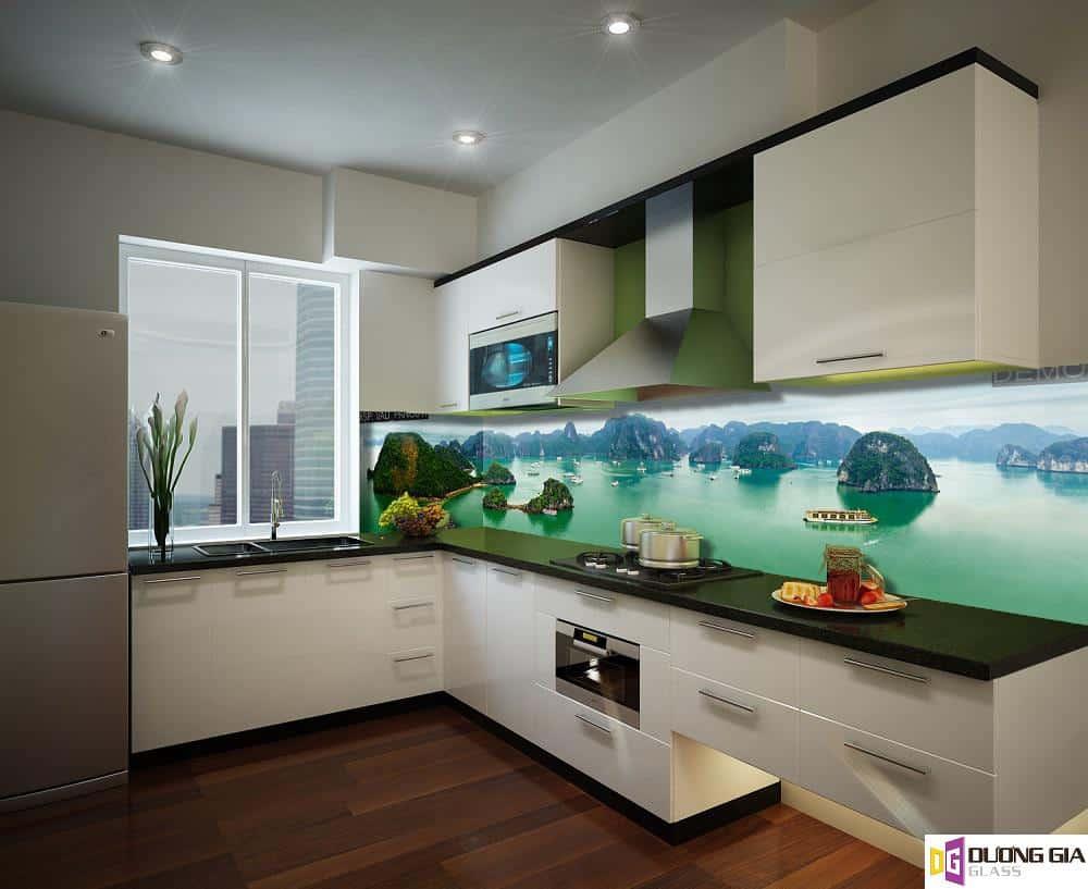 Mẫu kính ốp bếp 3D đẹp