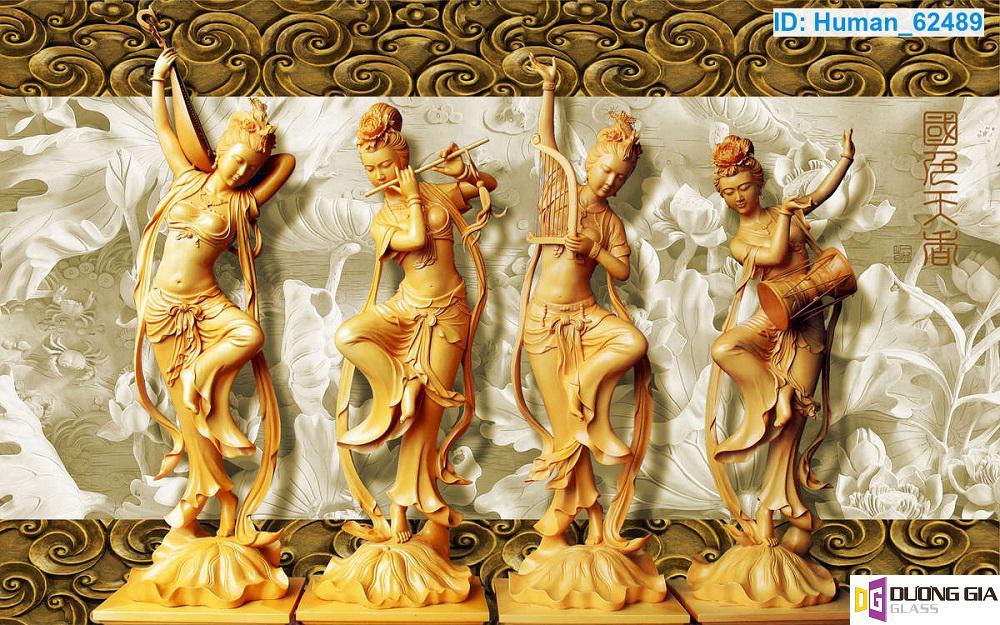 Tranh kính điêu khắc mẫu 5
