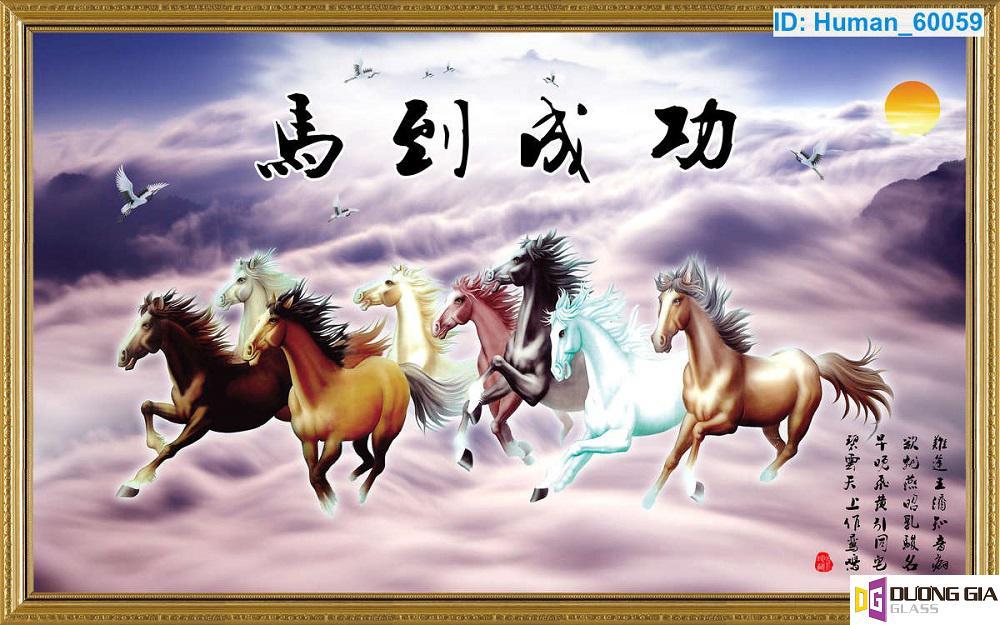 Tranh kính ngựa mã đáo thành công