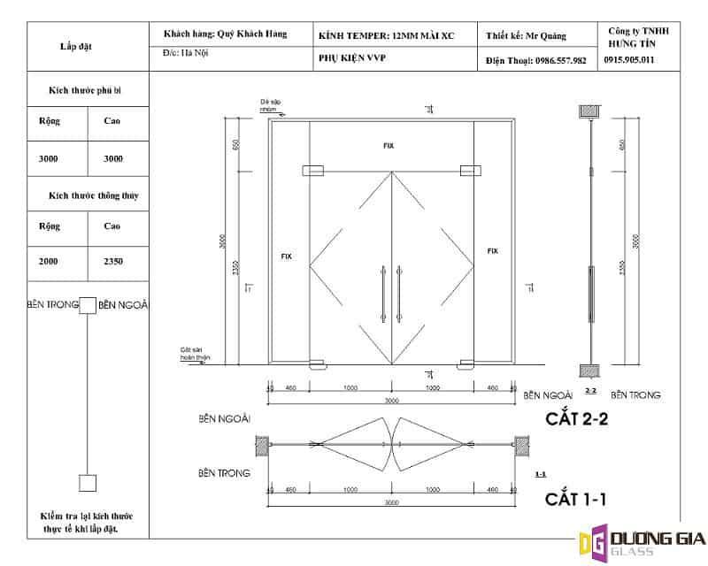 Cách đo kính cường lực