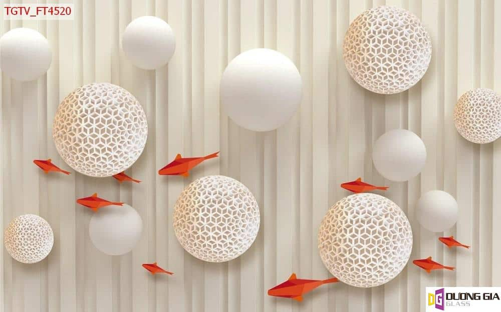 Tranh cá chép 3D mẫu 3